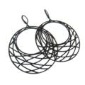 Large Simple Black Round  Earrings