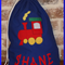 CHILDS PERSONALISED LIBRARY BAG - TRAIN
