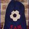 CHILDS PERSONALISED LIBRARY BAG - Soccer