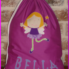 CHILDS PERSONALISED LIBRARY BAG - Fairy