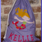 CHILDS PERSONALISED LIBRARY BAG - Mermaid
