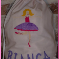CHILDS PERSONALISED LIBRARY BAG - Ballerina