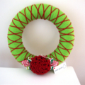 Christmas wreath door decoration red green white xmas