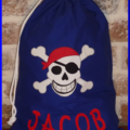 CHILDS PERSONALISED LIBRARY BAG - Pirate
