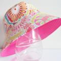 Girls beautiful summer hat in sunburst pattern