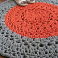 Khaki copper - Crochet rug - mat - T-shirt yarn