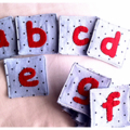 26 Fabric Alphabet Letter Card (a-z)