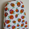 Ironing Board Cover - Owls orange, blue brown and purple on branches