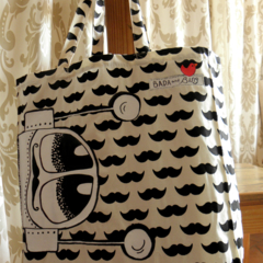 I'd love to stay but 'moustache' BADA and Bing Tote