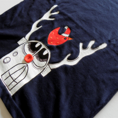BADA the red nosed Android Christmas tee, hand printed