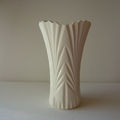 RESIN VASE IN CHALK - handmade vase in chalk white resin