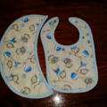 Newborn Boy Bib & Burp Cloth set.