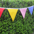 Custom Bunting for Hilary - 4 x 4 metre Rainbow Buntings
