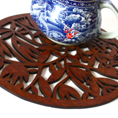 """Wildflower"" jarrah trivet"