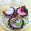 Miniature Fruit Tart- Felt Play Food