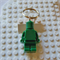LEGO MAN BAG TAG - Handmade green resin Lego man bag tag