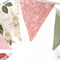 Paris Roses Vintage Style Flag Bunting Lace. Birthday Party, Market Stall