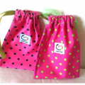Pink Spotty Toy Gift Bag