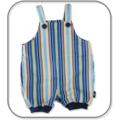 SIZE 00 Navy Stripe Cotton Overalls
