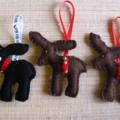 Reindeer trio Christmas decorations