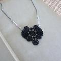 Lace Necklace - Black Dainty