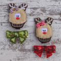 """2"""" Cupcake Reindeer Hair Clip Sets"""