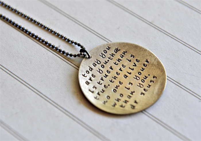 Dr Seuss Necklace Quote Jewellery Graduation Gift 40th