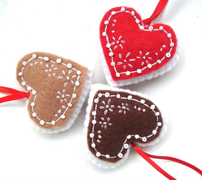 Gingerbread Heart Christmas Ornament