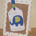Handmade Baby Card - It's a Boy!