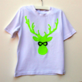 Boys Christmas T Shirt Reindeer geek chic