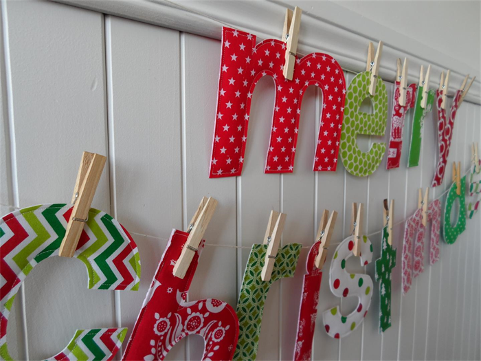 how to make a fabric banner with letters