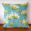 Aqua Wildflower Cushion Cover