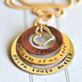 Personalised Jewellery Mother Family Wedding Song Mixed Metal Necklace