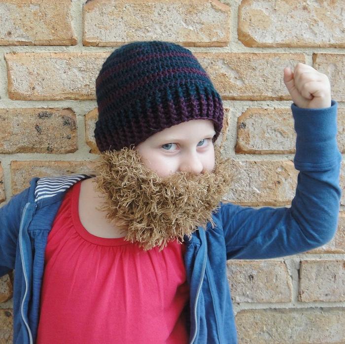 f3726ae946b Beard Beanie - child size - perfect for dress-ups!