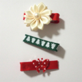 30% OFF DEAL OF THE DAY!! 3pk Christmas Theme Hair Clips with butterfly