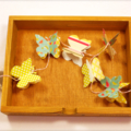 Butterfly Flutterby Garland / Bunting - Aqua, Yellow and Pink