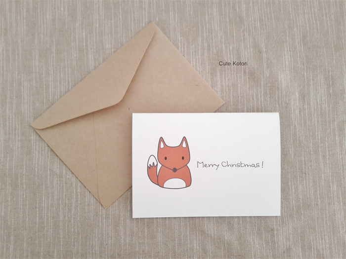 Cute Fox Christmas Card From The Christmas Friends Collection