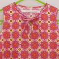Girl's Shift Dress - Size 1 to 2 Pink Yellow Flower Medallion - Free Post