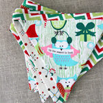 Christmas bunting with owls, chevron, festive decoration