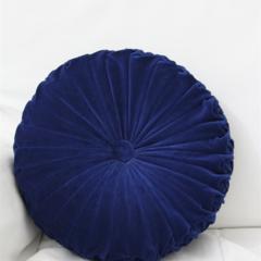 Vintage Style Dark Royal Blue Velvet round cushion-FREE POST
