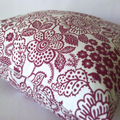 Red & White Scandinavian Style Cushion - Free Postage