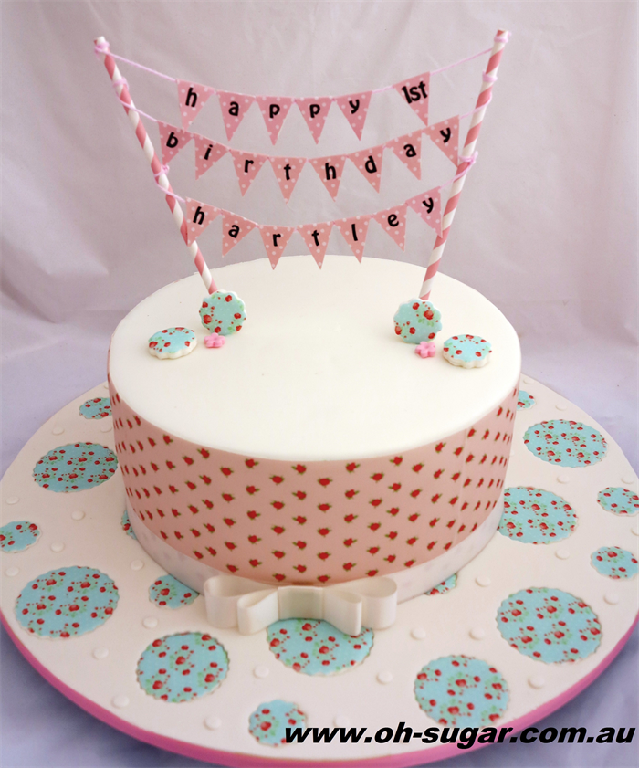 Personalised Cake Topper Bunting Fully Stitch Designs Madeit