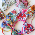 Little Bows, hair ties, pony tile holders, Liberty fabric
