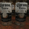 6 Corona Extra Beer Glasses, Tumbler, Handmade, Mancave, Bar