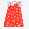 Girls Dress Carnival in Kitty Red w Brooch size 0000-5 winter summer gift party