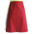Ladies sizes available - retro red polka dot A Line Skirt