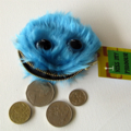 Fake Fur Blue Monster Coin Purse