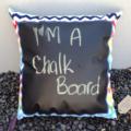 Chalkboard Cushion- Rainbow Design