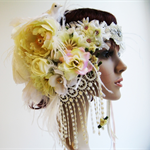 Bridal Headpiece - DOVE.  Custom made just for you.