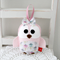 Mimi bird in soft pink with flowers, softie, small toy